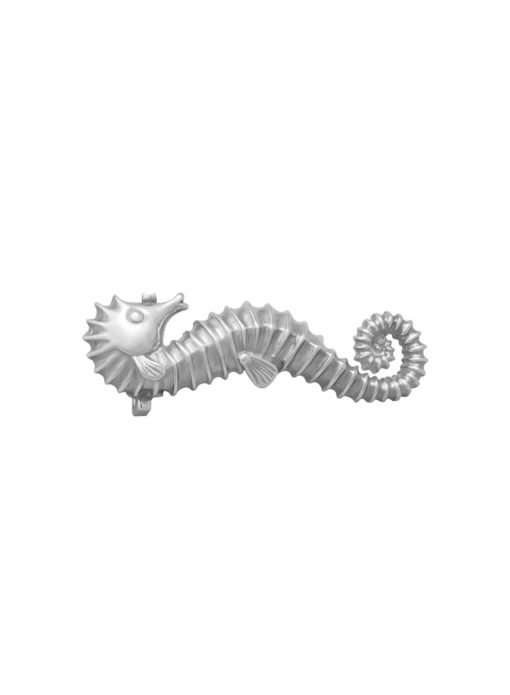 Fibbia Hippocampus Steso Argento Silver 925 Made in Italy Handcrafted Alessandra Fontanelli Luxury Accessories BUUHISTS