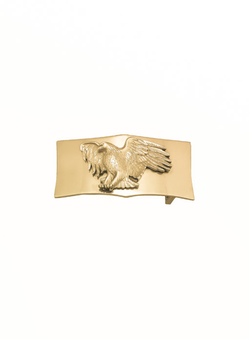 Fibbia Aquila Golg Plated Bagnata nell Oro Made in Italy Handcrafted Alessandra Fontanelli Luxury Accessories BUUDOAQGP