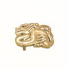 Fibbia Gold Plated Bagnata nell Oro Made in Italy Handcrafted Alessandra Fontanelli Luxury Accessories BUUDRGP
