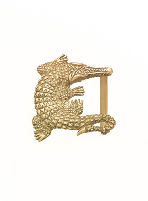 Fibbia Kaimano Gold Plated Bagnata nell Oro Made in Italy Handcrafted Alessandra Fontanelli Luxury Accessories BUUKAGP